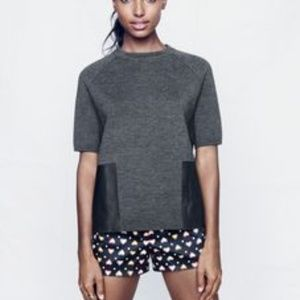 J. CREW STRETCH HEART AND DOT SHORTS SIZE 6.